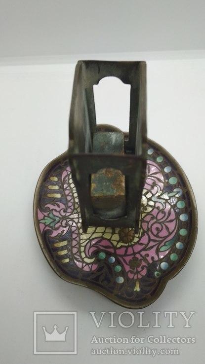 Старинная спичечница, бронза, гарячие перегородчатые эмали., фото №7