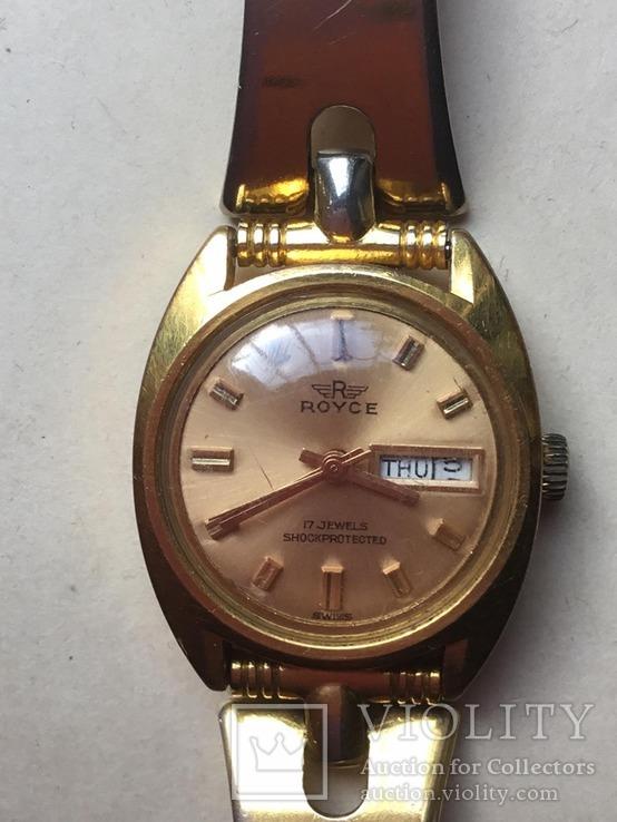 Наручные часы  с браслетом  ROYCE, Швейцария, идут., фото №5