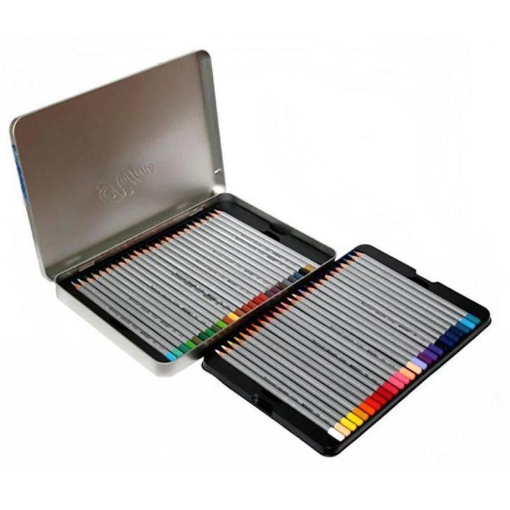 Карандаши  цветные 50 цветов Raffine 7100-50TN Marco в металлическом пенале