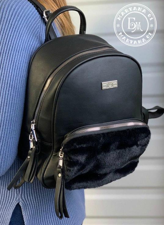 Оригинальный женский рюкзак черный