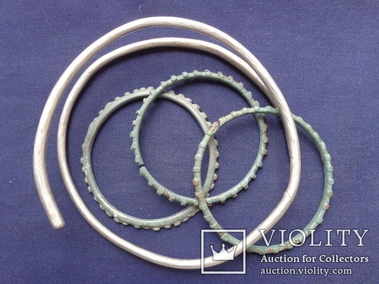 Браслеты КР (серебро 78 гр, бронза)