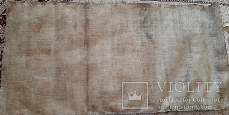 Старинная икона на холсте со св.Глеб,Мария,Иисус,Иоанн,Борис, фото №3