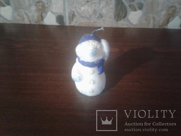 Статуэтка снеговик свеча, фото №2