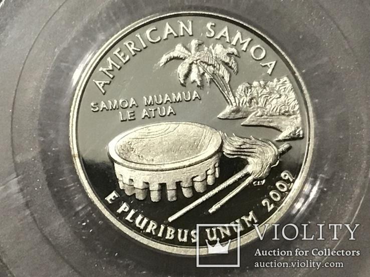 25 центов сша 2009 года. Серебро, фото №3