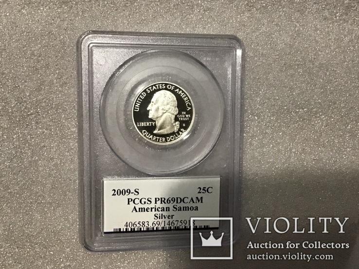 25 центов сша 2009 года. Серебро, фото №4