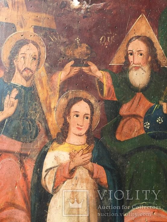 Икона Коронование Богородицы, фото №3