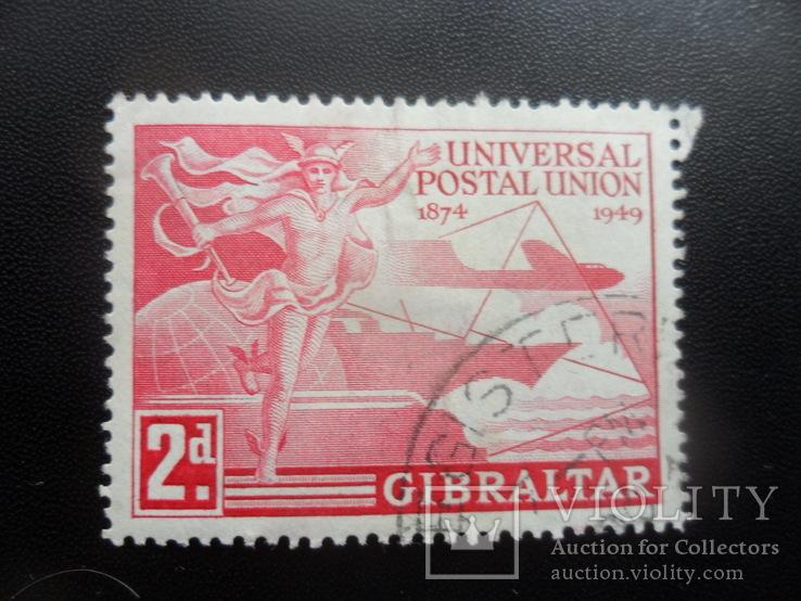 Британские колонии. Гибралтар. 1949 г. гаш