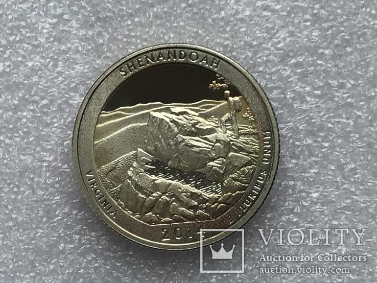 25 центов сша 2014 года. Серебро, фото №2
