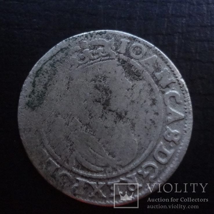 Шестак  6  грш  1664  Польша  серебро  ($4.5.16)~, фото №2