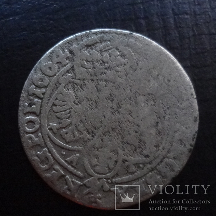 Шестак  6  грш  1664  Польша  серебро  ($4.5.16)~, фото №3