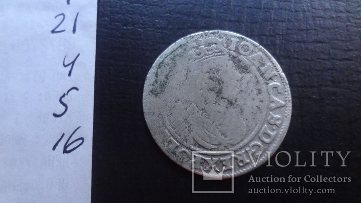 Шестак  6  грш  1664  Польша  серебро  ($4.5.16)~, фото №4