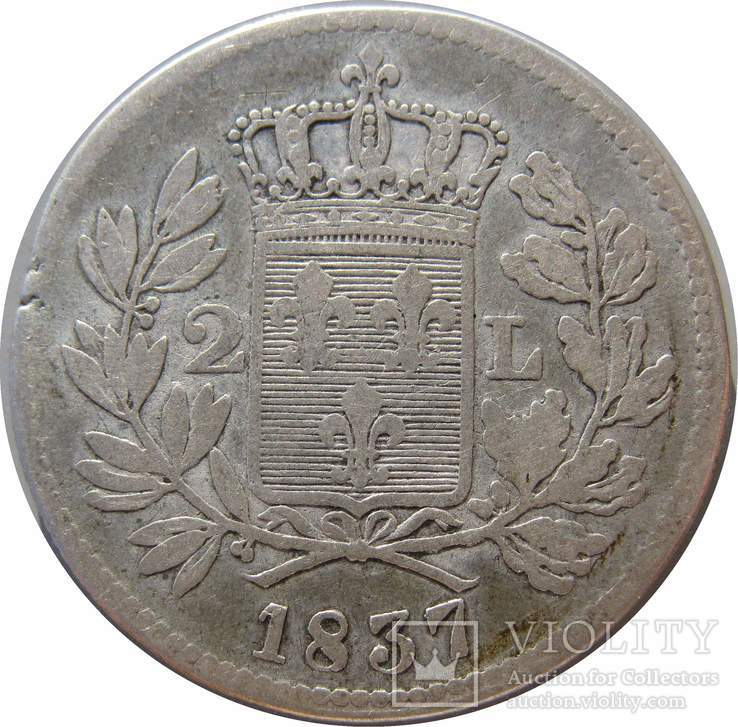 2 лиры 1827 Лукка