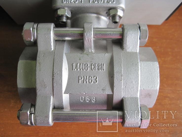 Шаровий кран з пневматичним приводом., фото №6