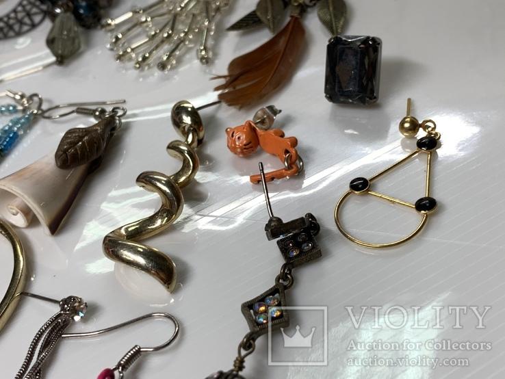 Лот винтажных одиночных серьг с Англии (8), фото №11