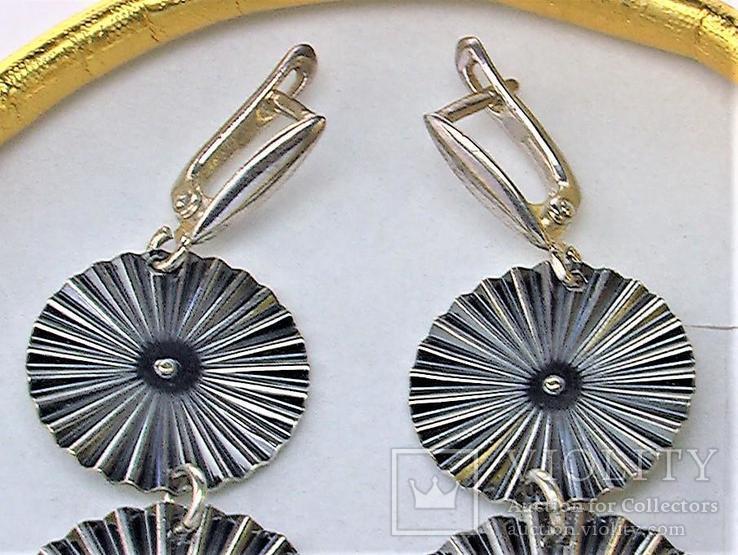Серьги серебро 925 проба 7,91 грамма, фото №3