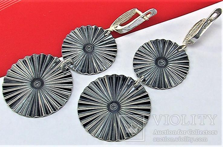 Серьги серебро 925 проба 7,91 грамма, фото №5