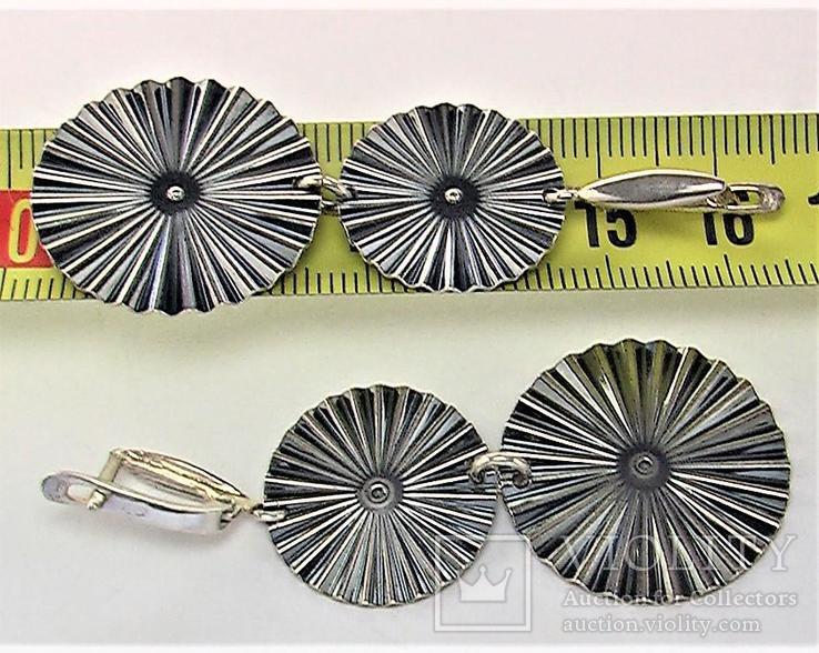 Серьги серебро 925 проба 7,91 грамма, фото №6