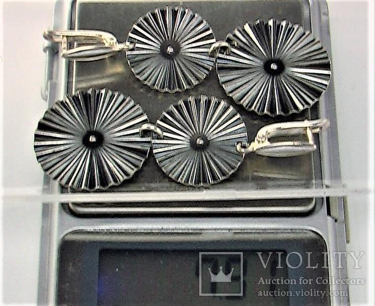 Серьги серебро 925 проба 7,91 грамма, фото №7