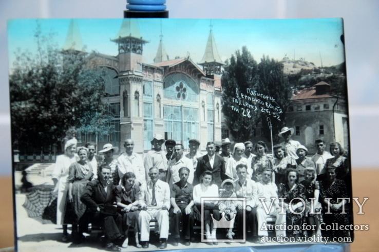 Фото   ( 5 штук+1 )групповое с курорта Пятигорск. 1952 год. Псевдоцвет., фото №4