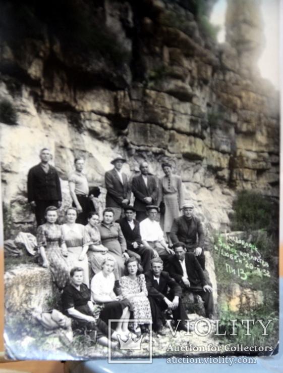 Фото   ( 5 штук+1 )групповое с курорта Пятигорск. 1952 год. Псевдоцвет., фото №8