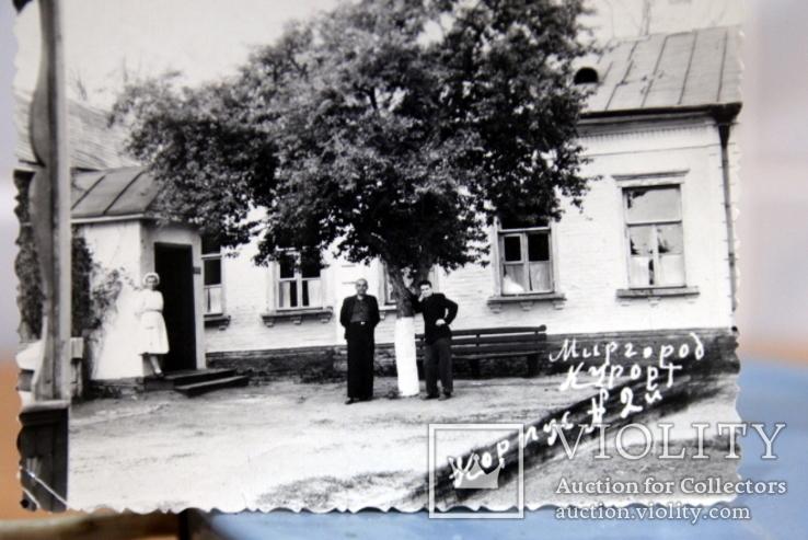 Фото   ( 5 штук+1 )групповое с курорта Пятигорск. 1952 год. Псевдоцвет., фото №10