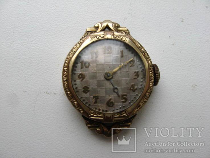 Часы швейцарские G * K позолота 20 микрон .1932 г. не рабочие, фото №2