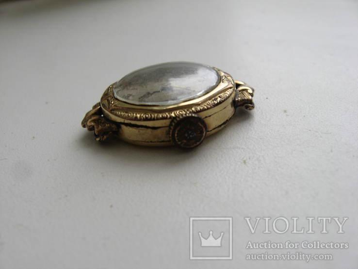 Часы швейцарские G * K позолота 20 микрон .1932 г. не рабочие, фото №5