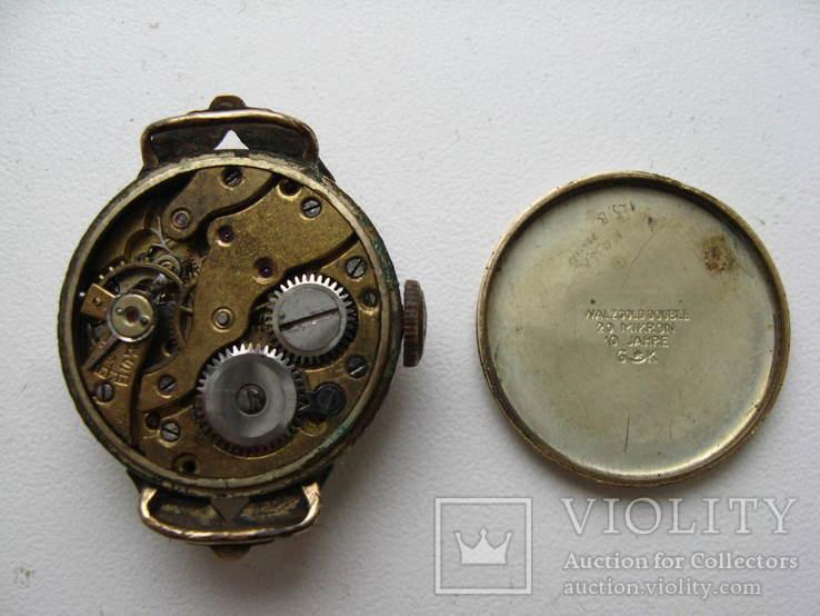 Часы швейцарские G * K позолота 20 микрон .1932 г. не рабочие, фото №7