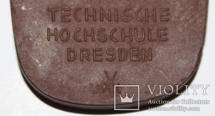 "Фарфоровый брелок Мейсен ""Технический колледж Дрездена им.А.Шуберта"", фото №11"
