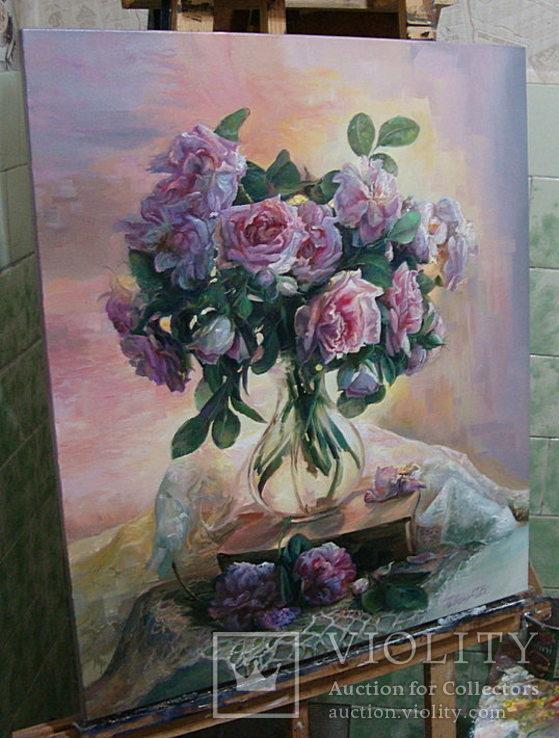 """""""Троянди"""" 60х70 см;полотно,олія, Півень С.В., фото №3"""