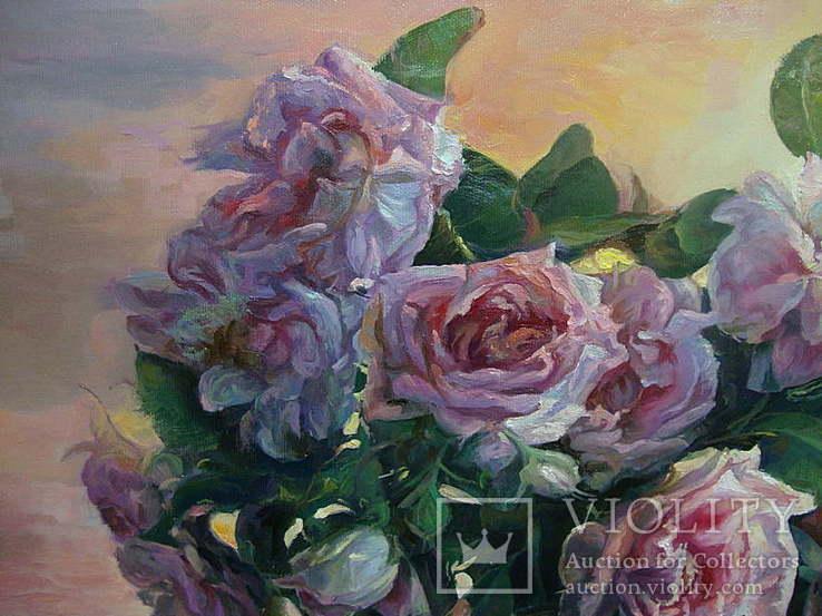 """""""Троянди"""" 60х70 см;полотно,олія, Півень С.В., фото №6"""