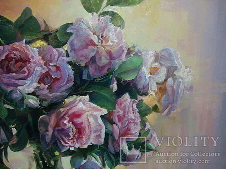 """""""Троянди"""" 60х70 см;полотно,олія, Півень С.В., фото №7"""