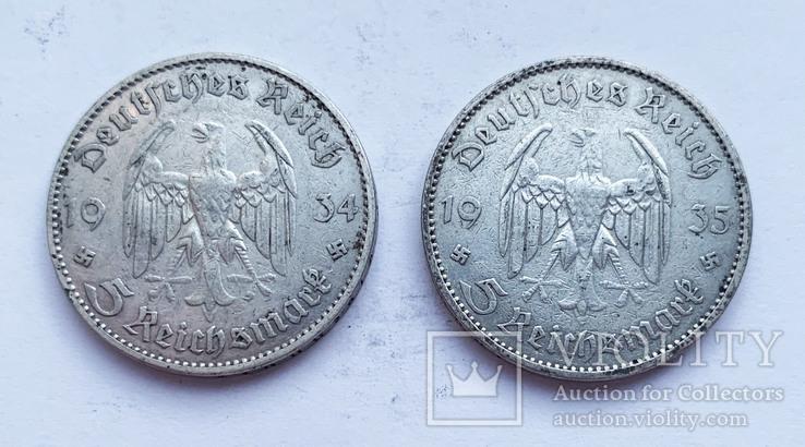 5 марок 1934 и 1935 года, фото №2