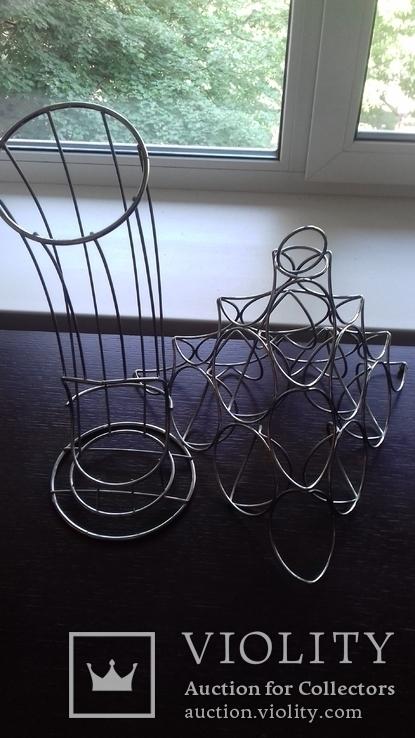Фруктовницы из хромированного металла (2 шт.), фото №2
