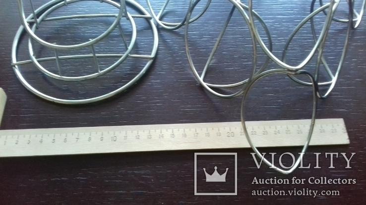 Фруктовницы из хромированного металла (2 шт.), фото №7