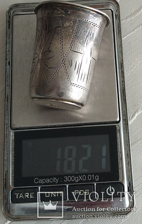 Стопка серебро №3, проба 84. Период РИ., фото №4