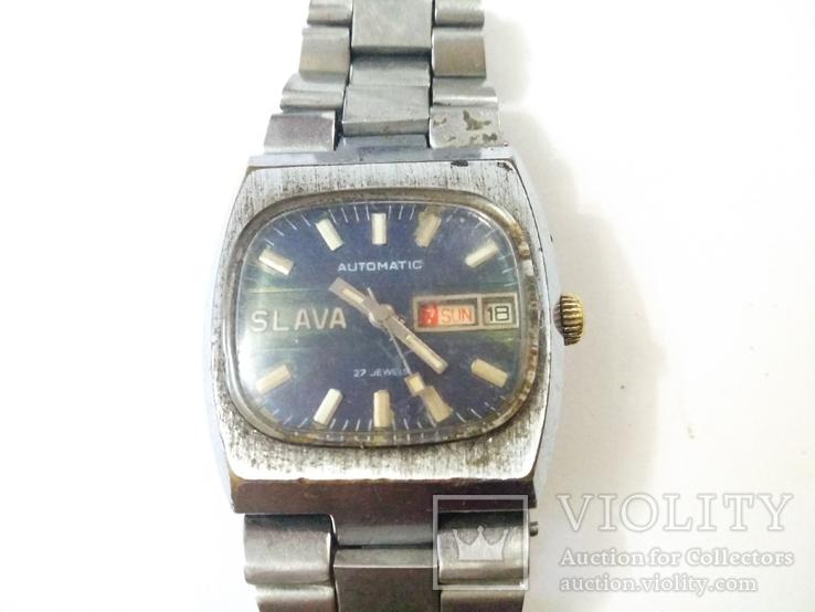 SLAVA,AUTOMATIK ,27 jewels, фото №4