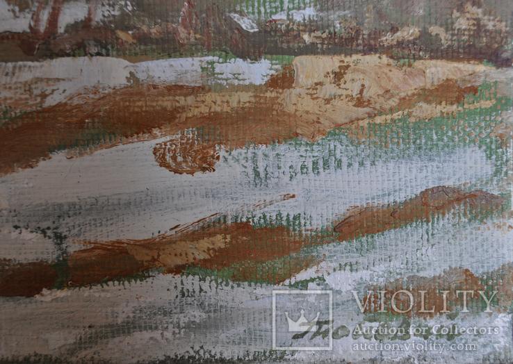 """Живопис """"Зима"""" Сергій Гнойовий, П. О. 2006 р. 50Х60, фото №4"""
