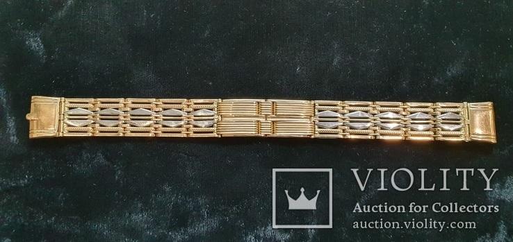 Браслет для часов комбинированный  Золото 585 / Платина 950 пробы. Унисекс, фото №6