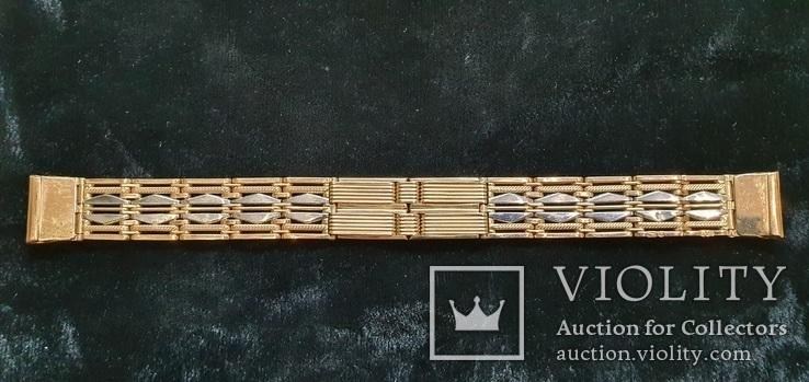 Браслет для часов комбинированный  Золото 585 / Платина 950 пробы. Унисекс, фото №7