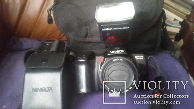 Японский фотоаппарат Minolta Dynax7000i c вспышкой, фото №2