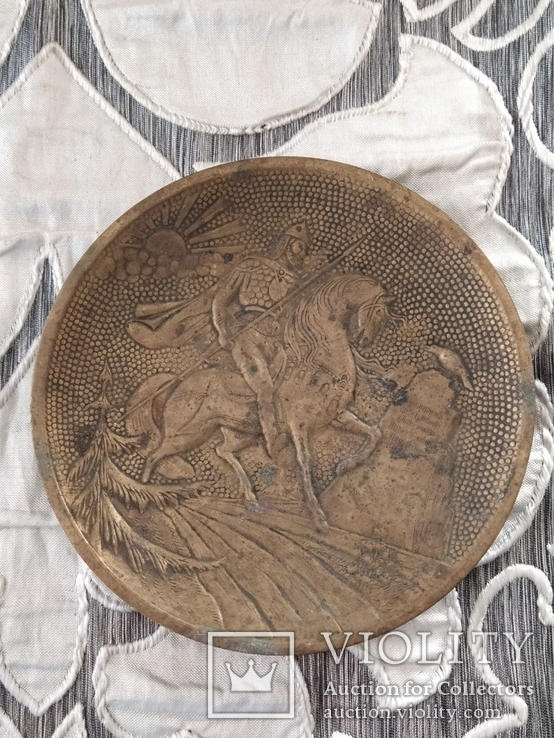 Бронзовая тарелка, фото №2
