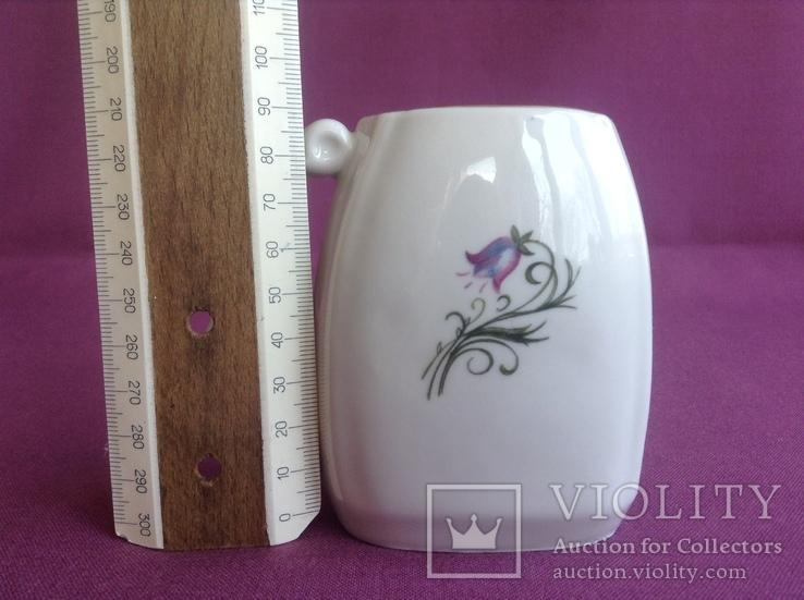 Кружка для минеральной воды Колокольчики. Фарфор, позолота., фото №8