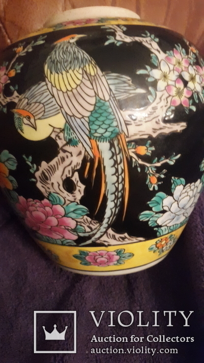 Старинная фарфоровая ваза Восток, фото №5