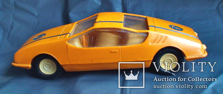 Игрушка СССР машинка гоночная инерционная, фото №2