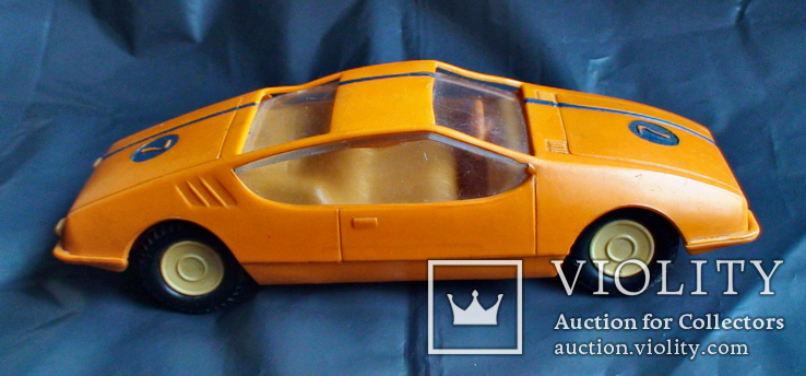 Игрушка СССР машинка гоночная инерционная, фото №3