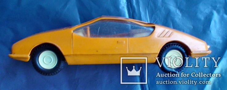 Игрушка СССР машинка гоночная инерционная, фото №7