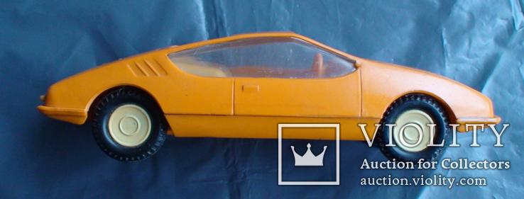 Игрушка СССР машинка гоночная инерционная, фото №8