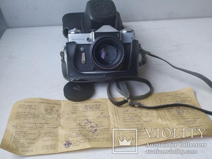 Зенит - Е , объектив Helios-44 - 2 СССР с паспортом