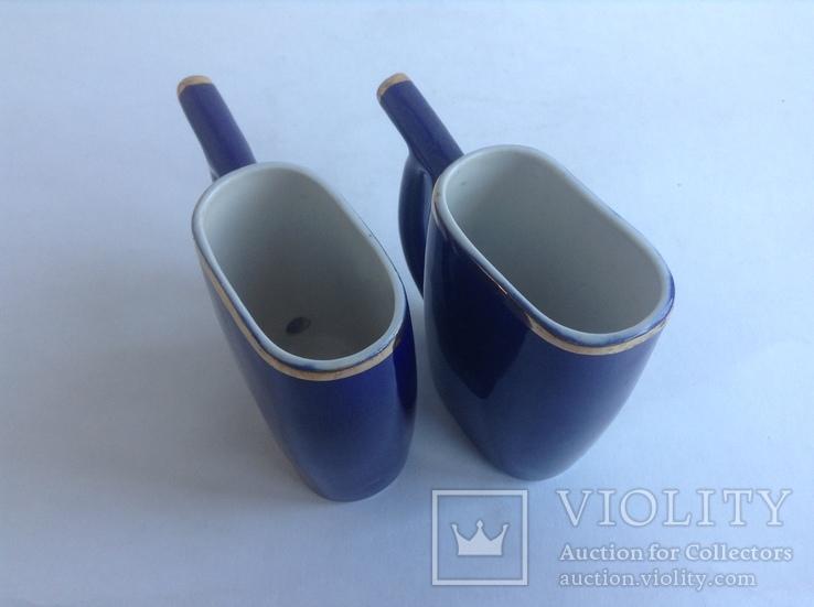 Кружки для минеральной воды Кисловодск. Фарфор, кобальт, позолота., фото №4